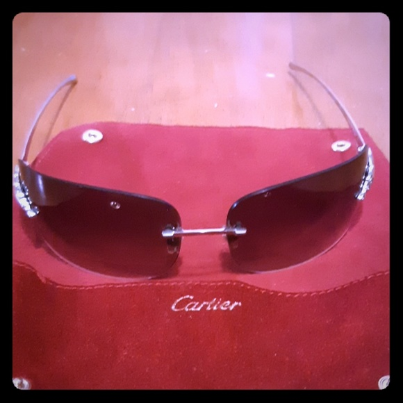 109cf30a25c Cartier sunglasses with platinum frames